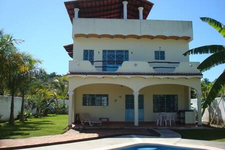 House w/pool, 2 blks to beach - Lo de Marcos - Huis