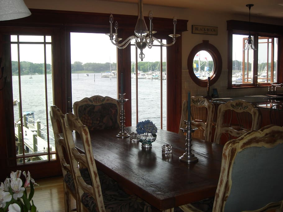 Dining Room overlooking the cove.