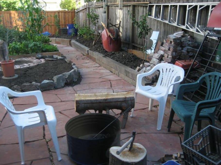 Back yard patio (early days).