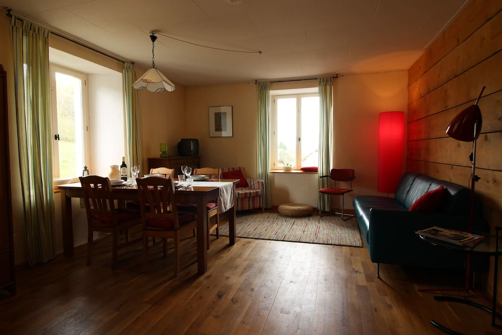 living / woonkamer / salon appartement 'Lin Rouge'
