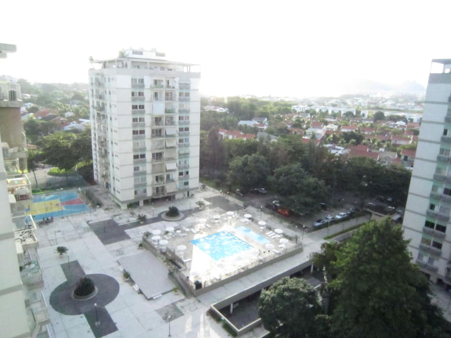 The swimming pool and sports club