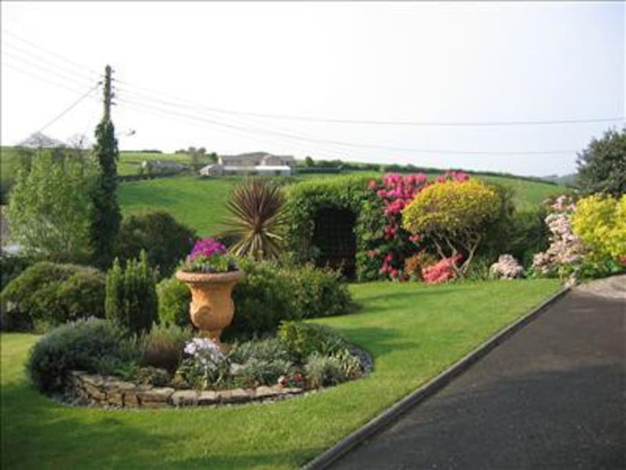 Beautiful Garden overlooking the village and countryside.