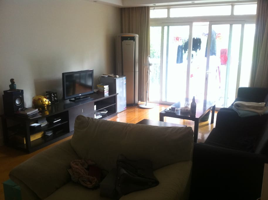 Living room with tv and dvd