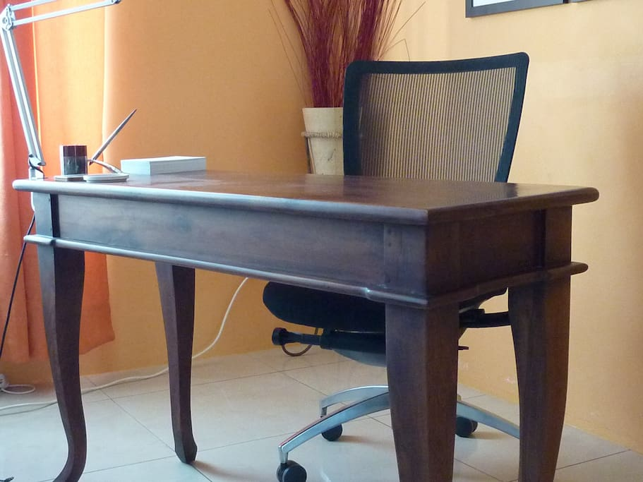 writing table in the room