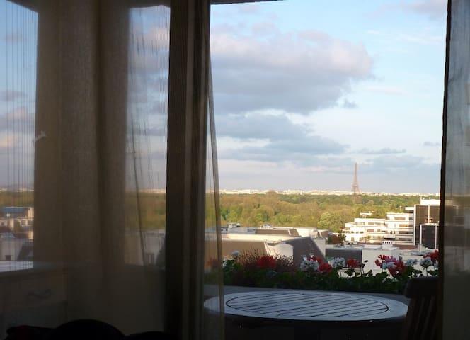3 pièces vue Tour Eiffel la défense - Suresnes - Apartamento