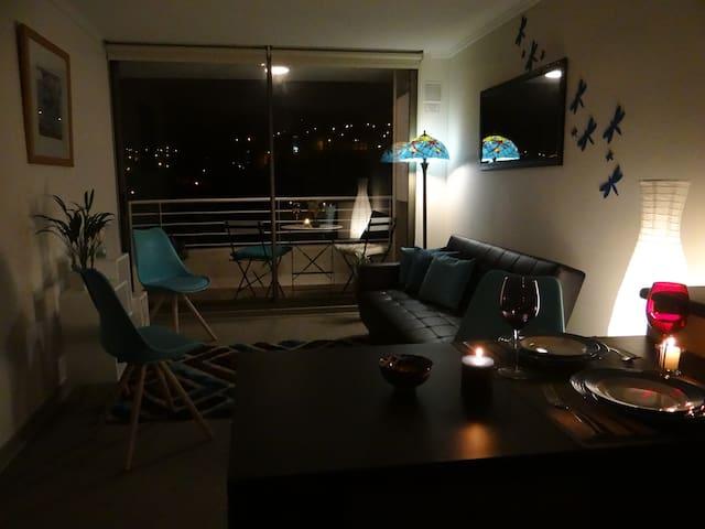 Acogedor departamento con vista panorámica - Valparaíso - อพาร์ทเมนท์