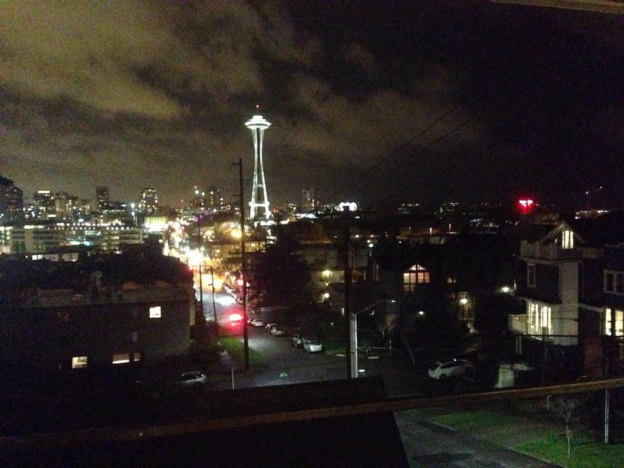 Night time view from the deck!