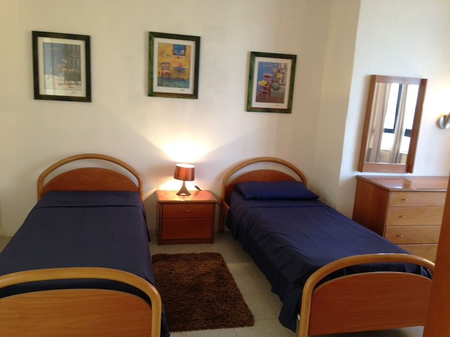 Large main bedroom, fully air-conditioned with en-suite shower, wash hand basin and toilet.