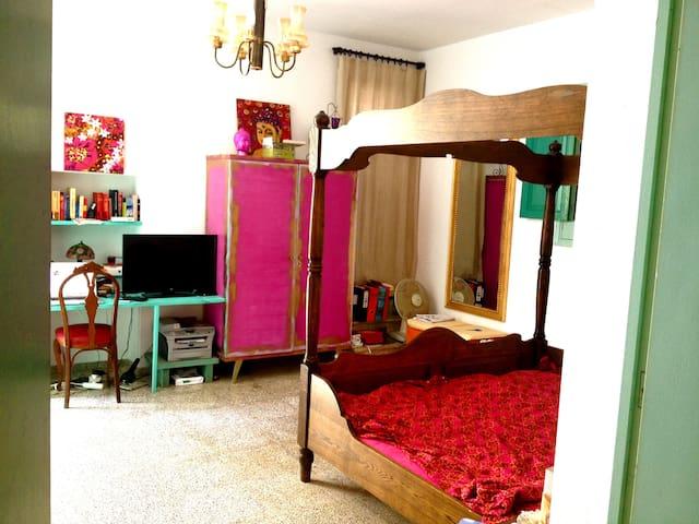 Nice Studio, garden 350 mtrs to sea - Santa Eulalia del Rio - Huis