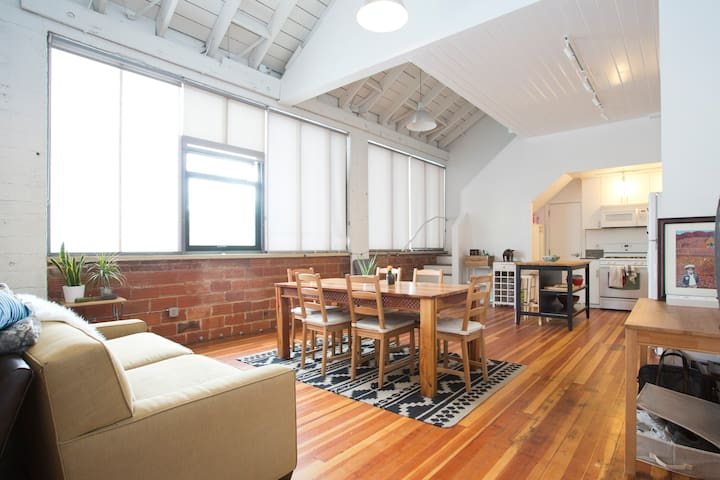 Huge, bright warehouse loft apartment in Oakland