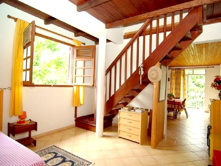Apartment with one bedroom in Le Robert, with enclosed garden and WiFi - 2 km from the beach