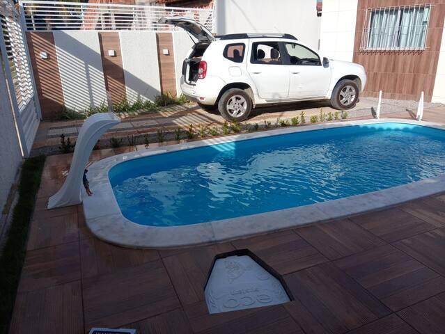 Casa de praia tamandare com piscina e area lazer.