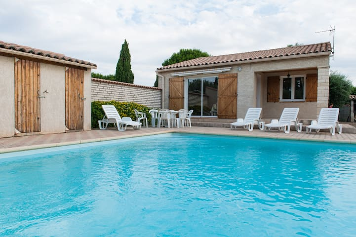 Belle villa avec piscine privative - Argeliers - 別荘