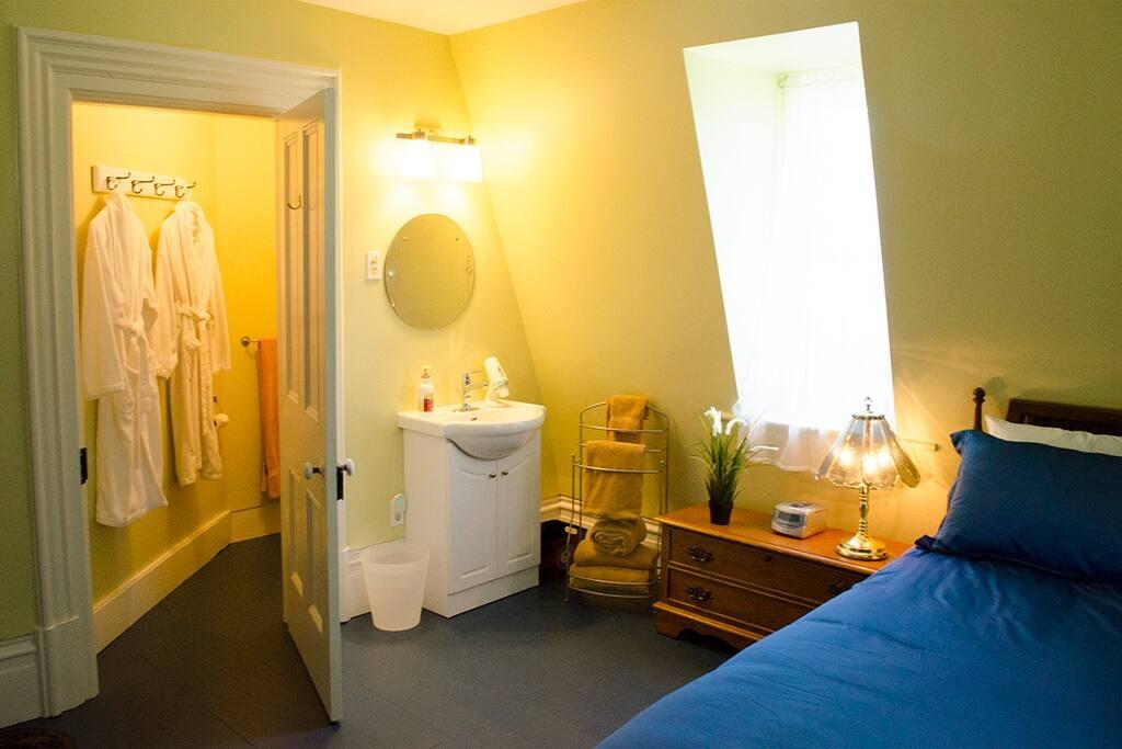Kilborn room with ensuite toilet.
