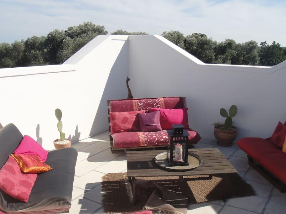 Moroccan roof terrace