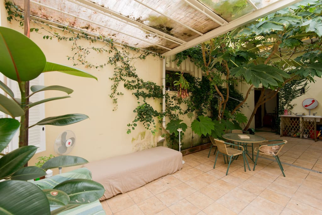 Garden area, with direct access from the guest room.