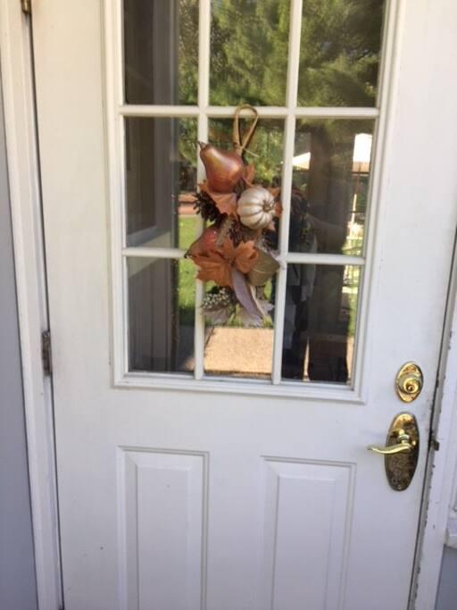 Side door to the breezeway and backyard