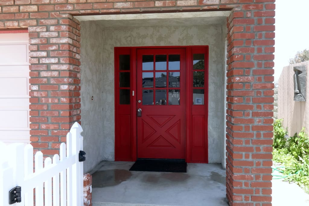 front door entrance-keyless entry.