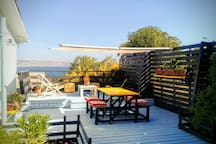 Terraza recién remodelada
