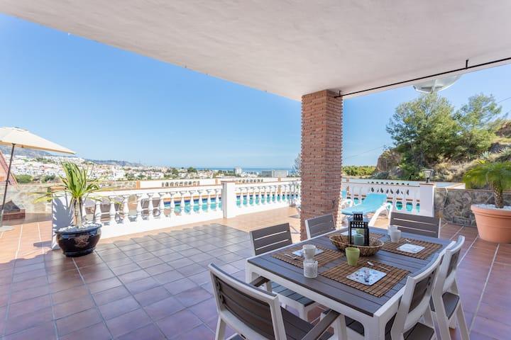 Beautiful villa w/ private pool, terrace, & incredible patio views!