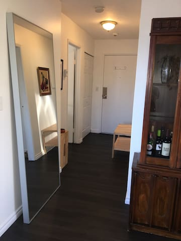 Foyer and front hall closet