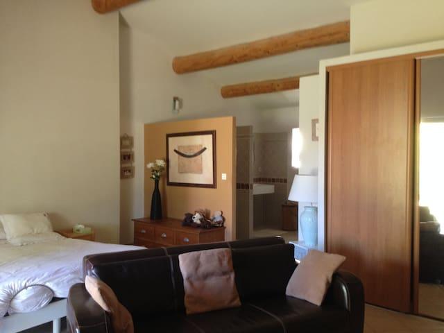 Grande chambre avec salon très lumineuse - Tavel
