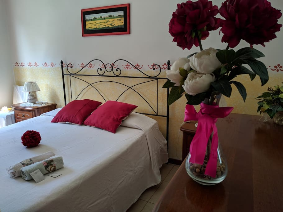 Romantic  room and flowers