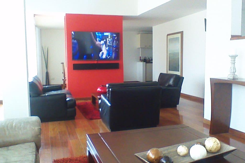 Sala con televisión