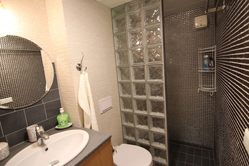 Bathroom with a shower – all brand new