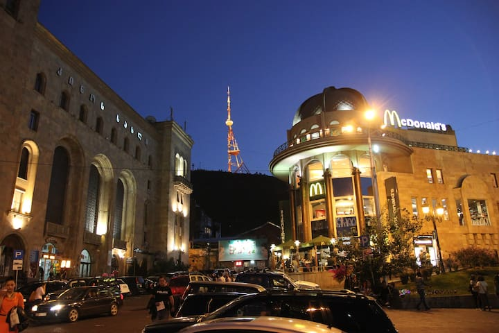 In the center of the Tbilisi city