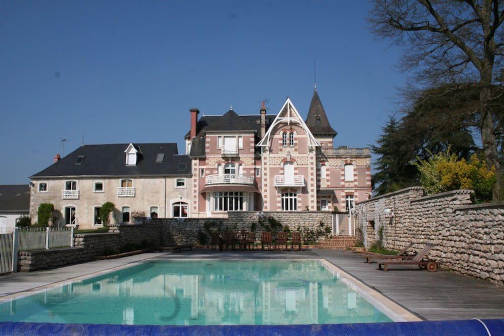 Gite 6 personnes maisons louer ch tillon sur indre for Prix piscine chatillon