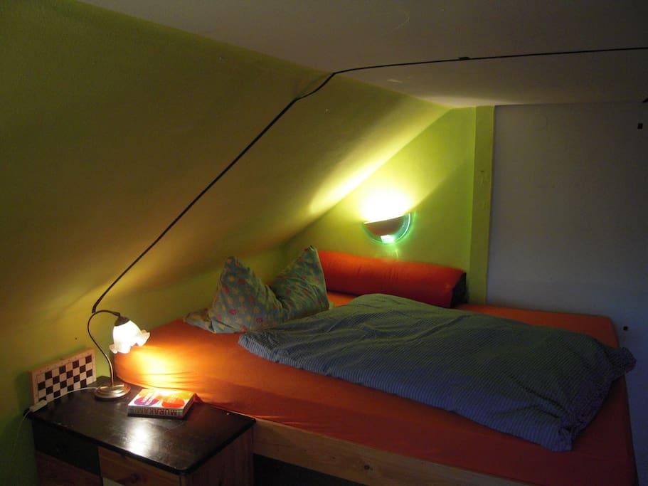 hier kann man gut schlafen, allein....