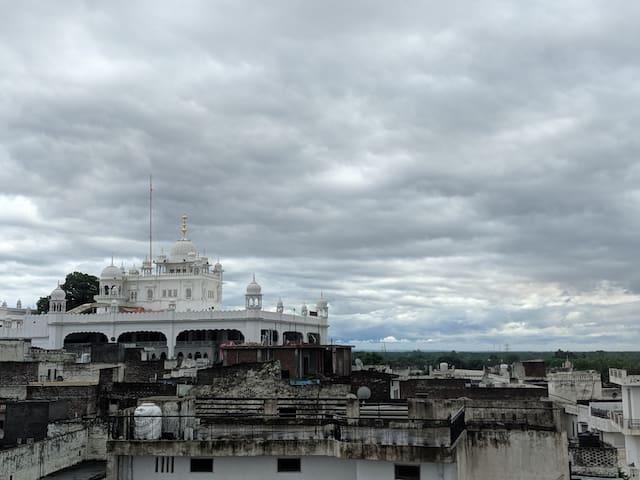 Air Guests house. Gurdwara view