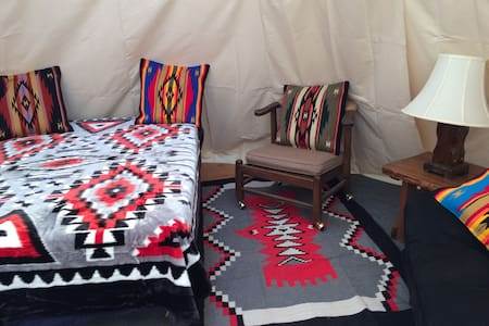 Tipi in Historical Gold Mining Town