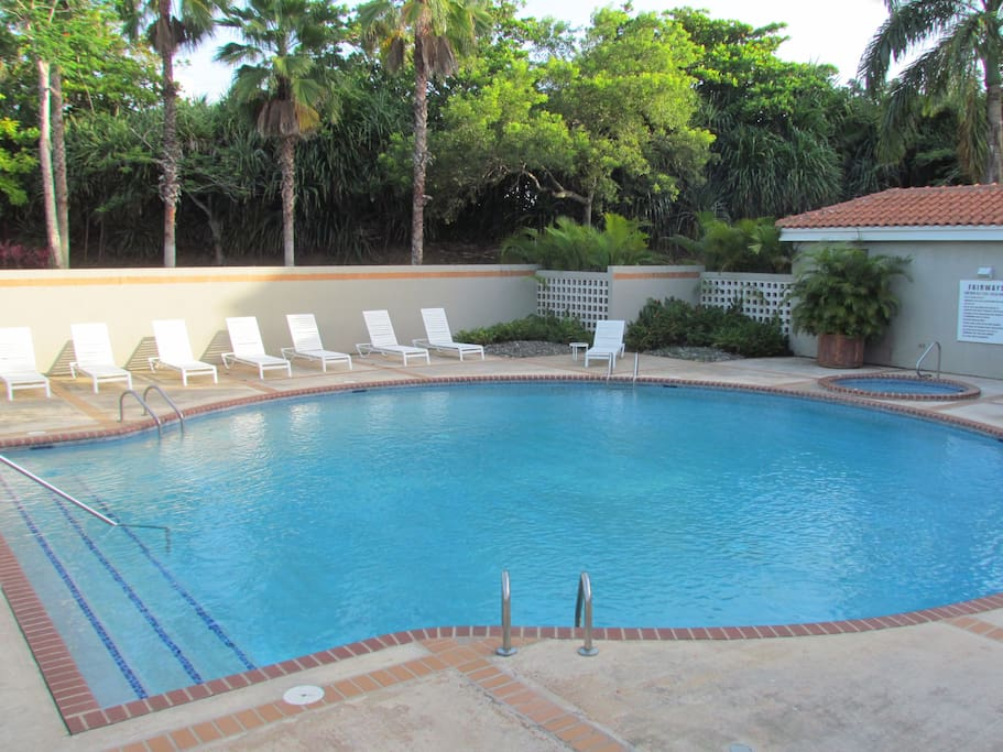 Fairways pool is for residents only. Great for a dip after a day at the beach.