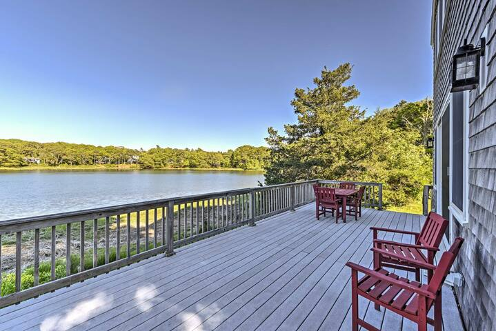Bourne House w/ Furnished Deck & Waterfront Views!