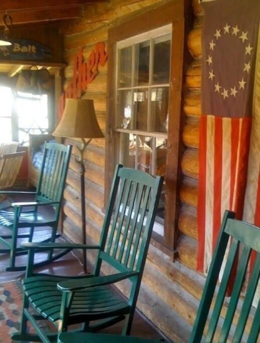 Cozy front enclosed porch