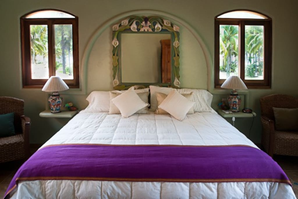 King bed in upstairs master suite.