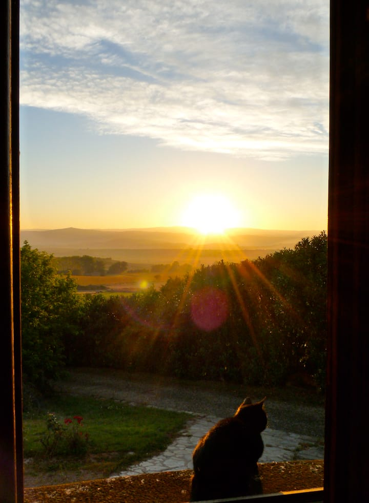 Chambres d'hôtes avec vue sur les monts d'Auvergne