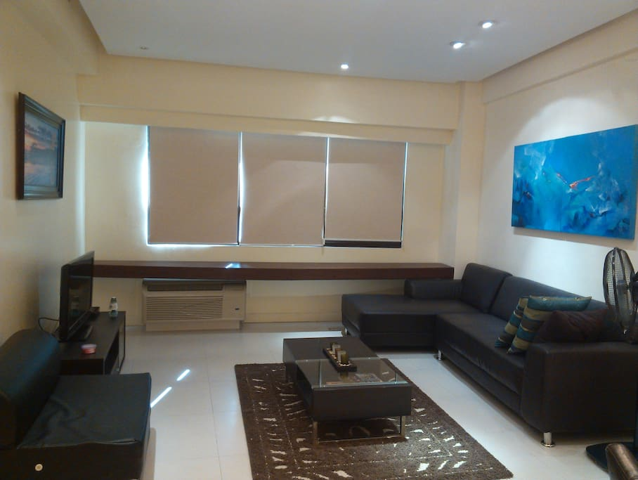 We can add a sofa bed to this space, has cable TV.