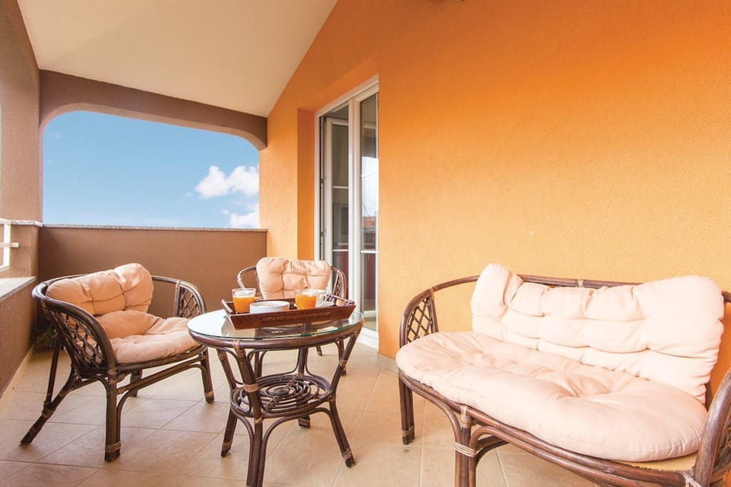 Terrace to enjoy a morning coffee or evening relaxation.