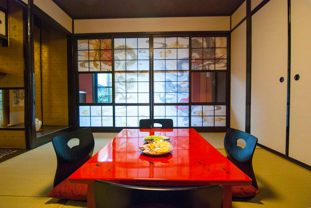 Japanese-style living room Гостиная в японскои стиле