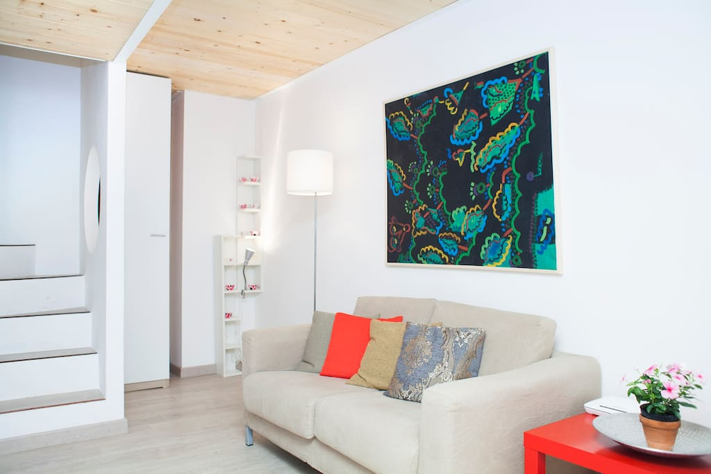 Sofà-bed (120x200 cm) in the living