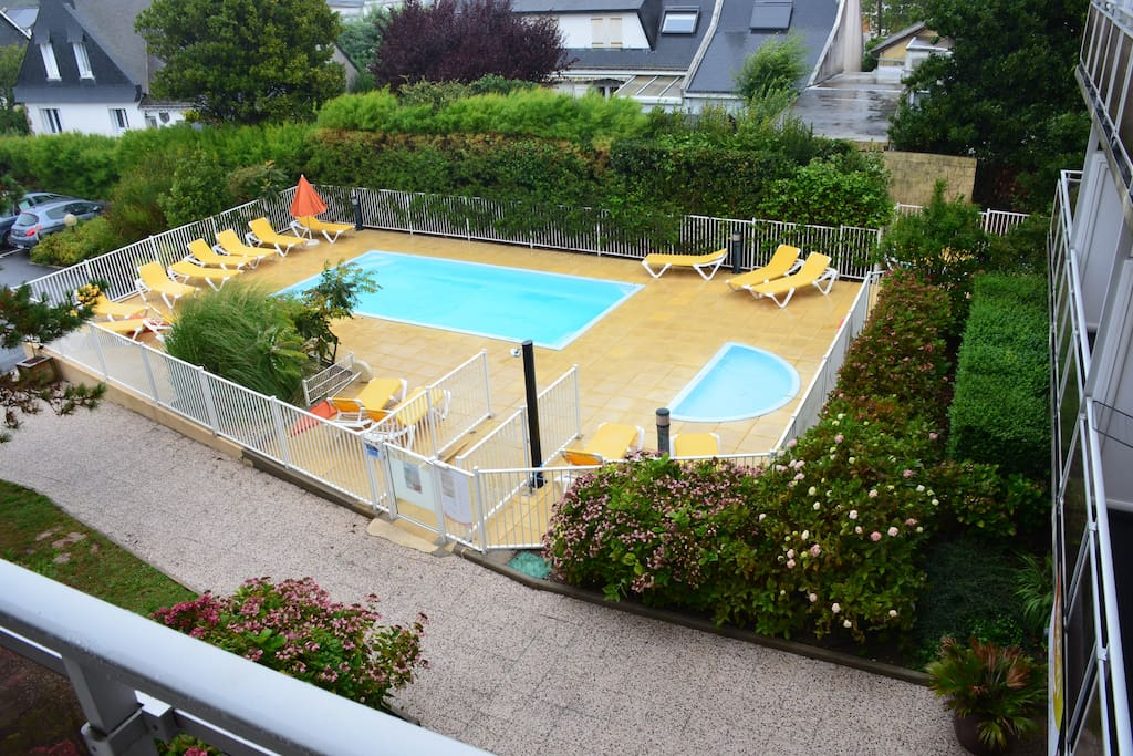 209 studio avec piscine parking proche plage for Piscine quiberon