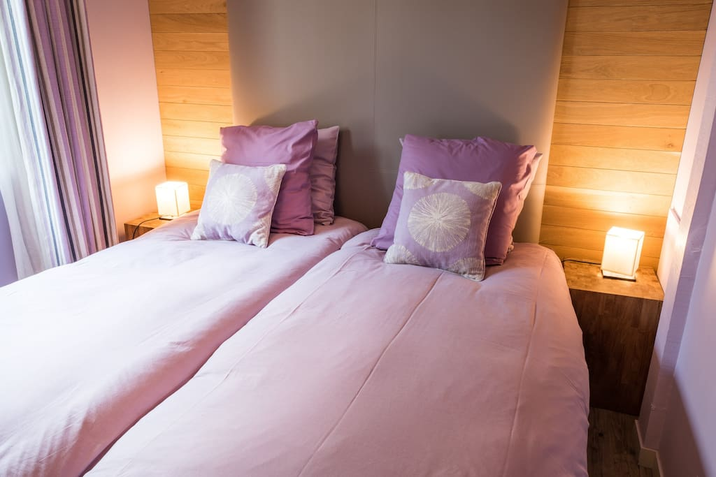 Chambre 1 (Rez de chaussée) - Deux lits simples (draps fournis)