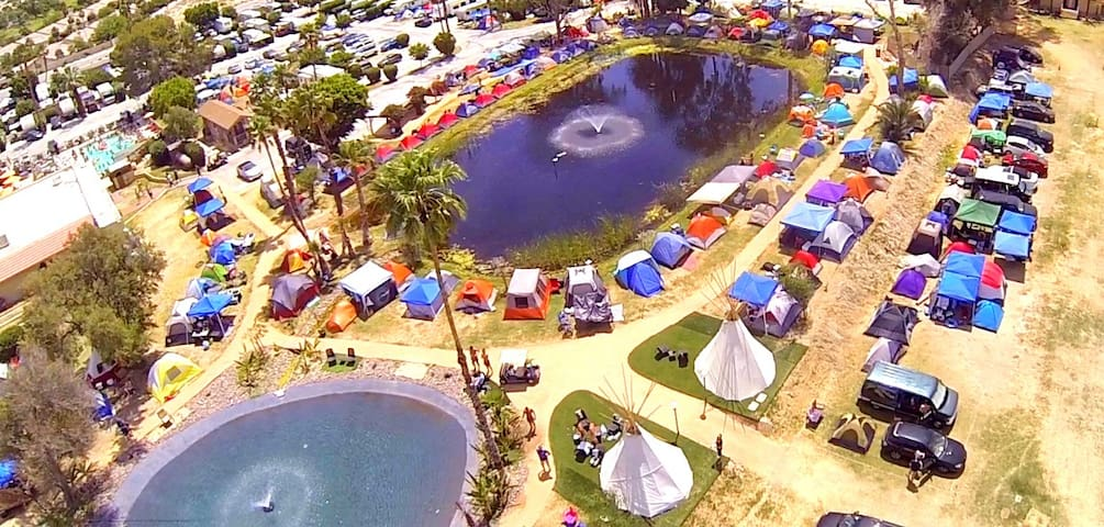 Coachella Glamping Pond Tent Site for 2 People