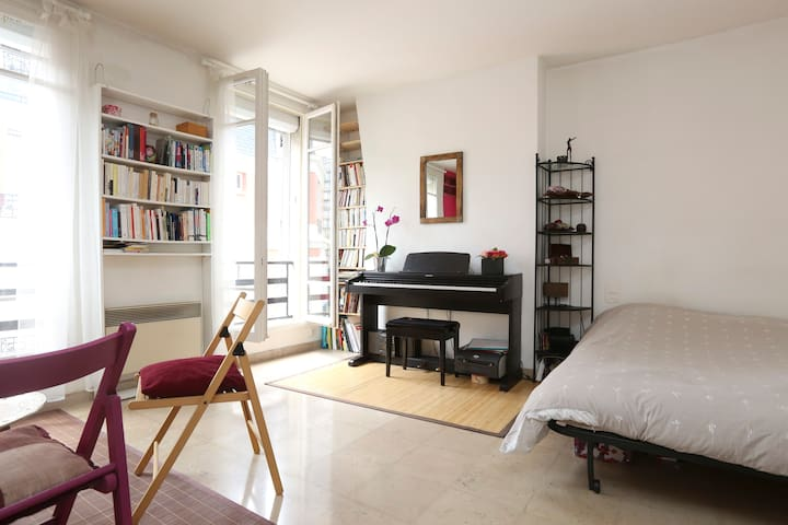 Grand studio lumineux à Paris - París - Departamento