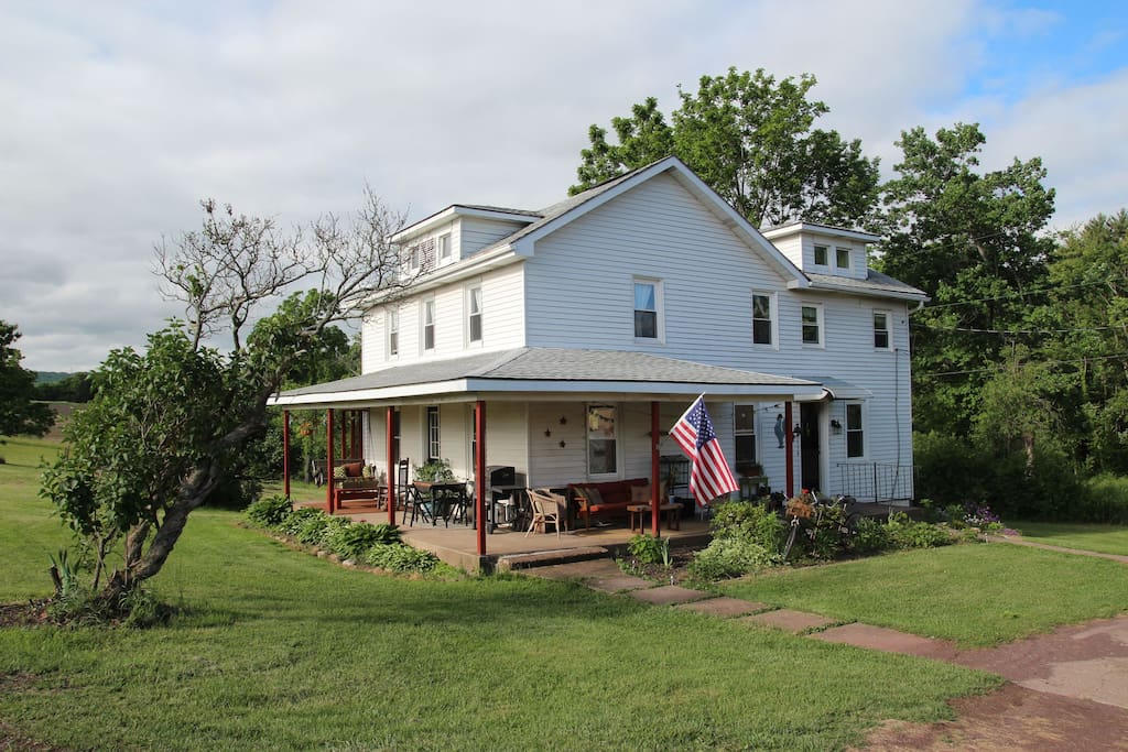Welcome to White Water Farm!  You'll be staying in our gorgeous 1890's farm house.  Guest bedrooms are on the second floor.