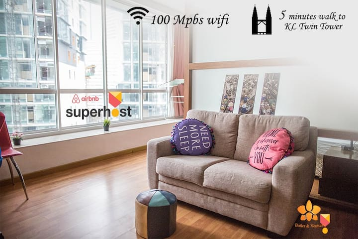 Homey Apartment next to KL Twin Towers l Fast WIFI
