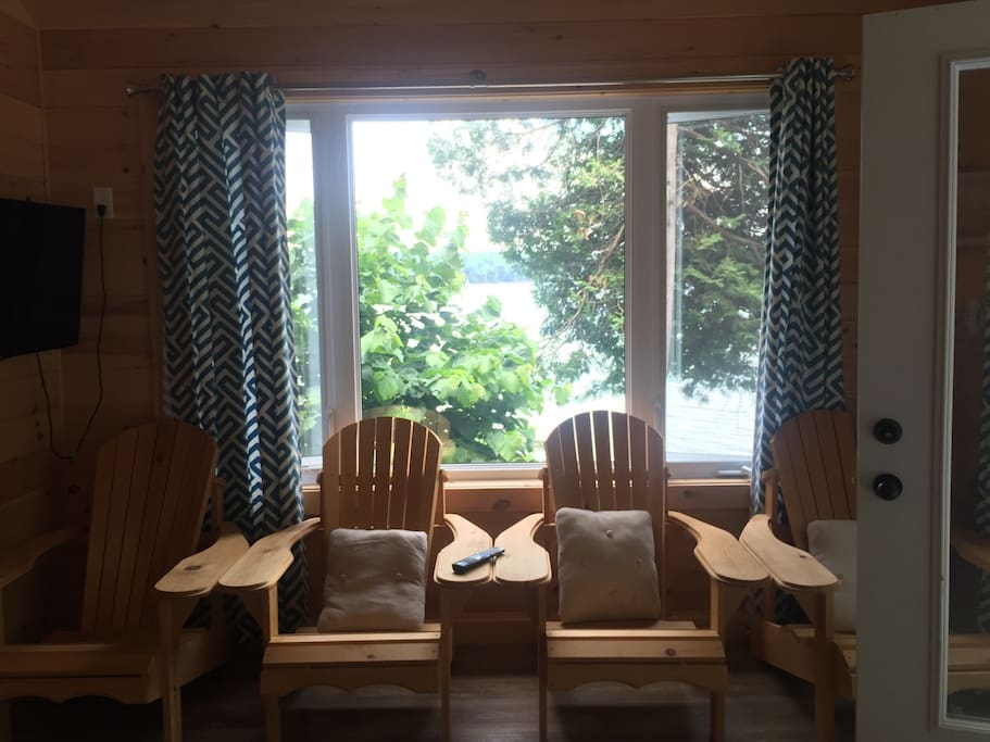 This is the living room window of the bunkie.